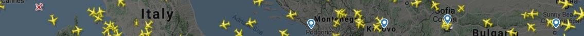Flightradar 24 map banner