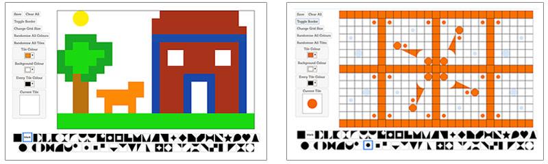 Screenshots of Mosaic Maker Design Tool