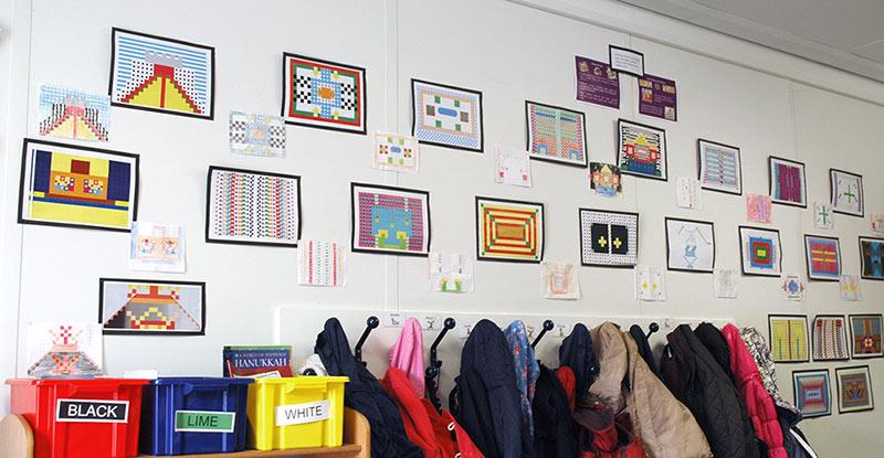 KS2 Roman Mosaic Classroom Display
