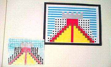 ks2 roman mosaic display